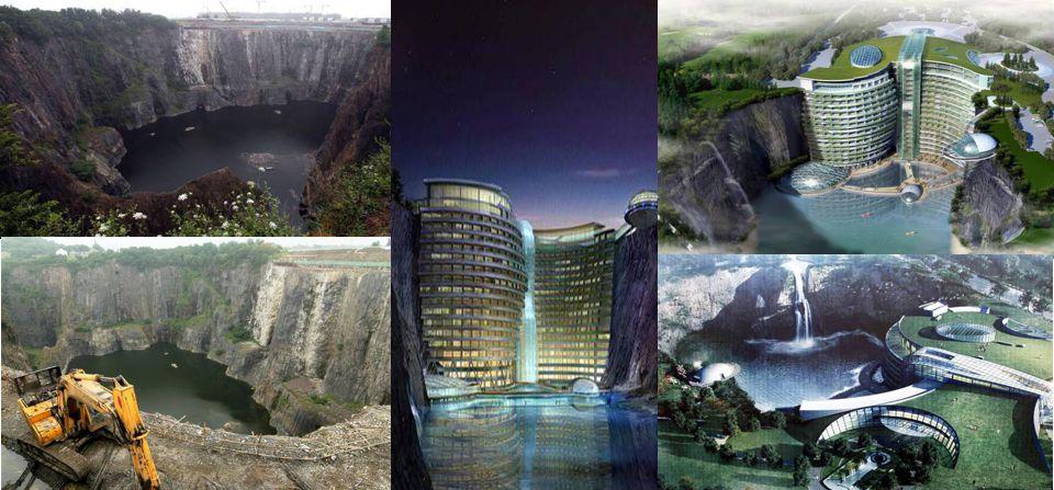 Recupero e riqualificazione ambientale o speculazione globale: in Cina tre anni per costruire un hotel extra lusso in ex cava